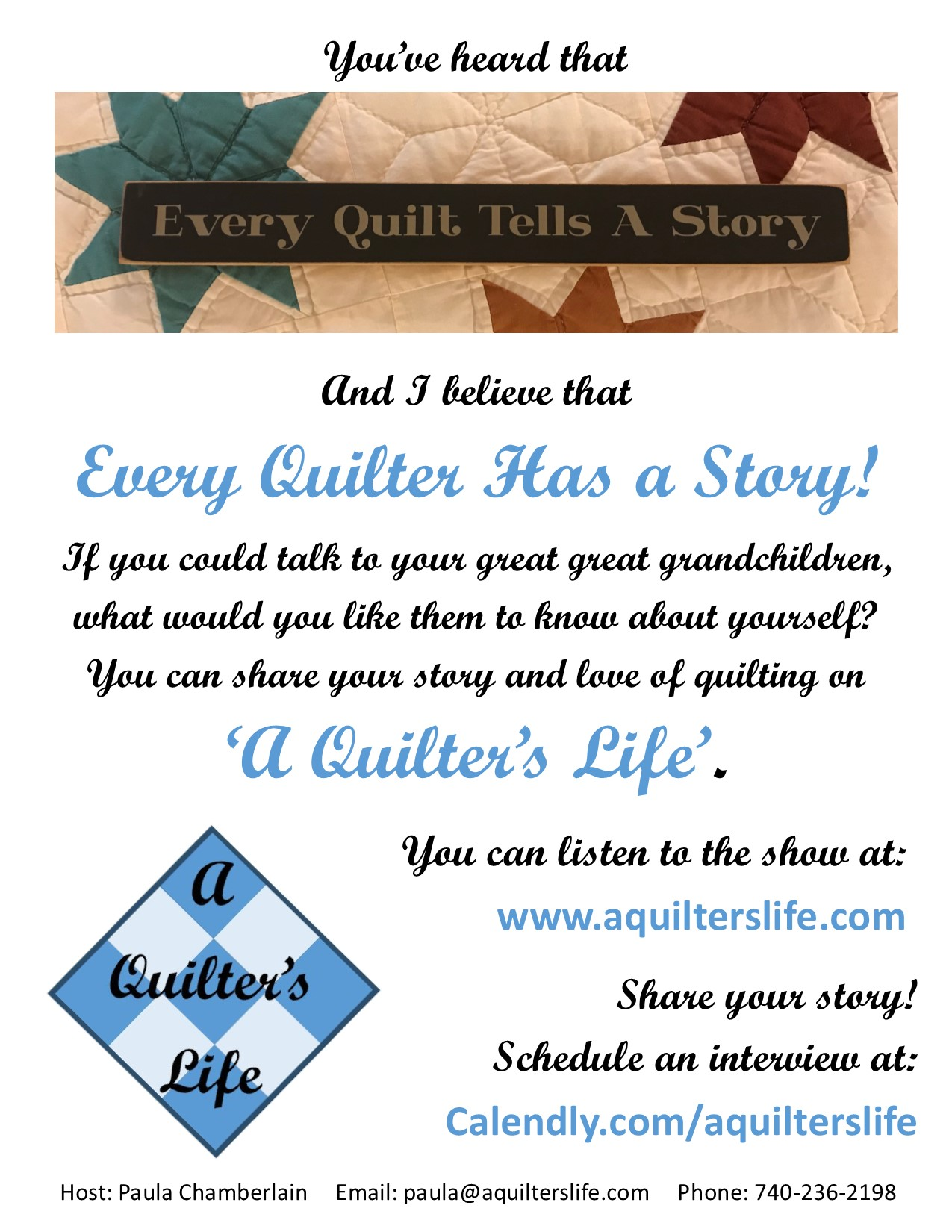 A Quilter's Life Poster P1